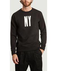 Saturdays NYC Sweat-shirt NY Letterpress - Noir