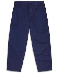 Albam Navy Fatigue Trouser - Blue