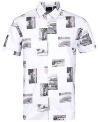 Edwin Chemise à manches courtes à imprimé photo d'archive - Multicolore
