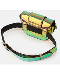 Essentiel Antwerp Iridescent Purple Mini Shoulder Belt Bag - Multicolor