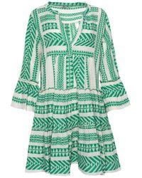 Devotion Vestido Zakar bordado con devoción verde