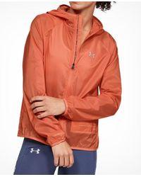 Under Armour Women's Qualifier Storm Pocket Jacket - Orange