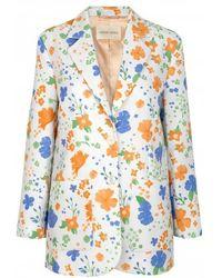Stine Goya Blossom Printed Bass Jacket - Blau