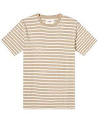 Folk T-shirt Rayé Classique Argile Ecru - Neutre