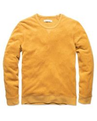 Outerknown Hightide Crew Curry - Giallo