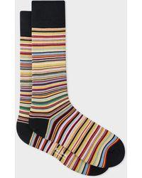 Paul Smith Chaussettes à rayures étroites pour hommes - Multicolore
