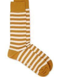 Oliver Spencer Miller Socks Ochre - Multicolour
