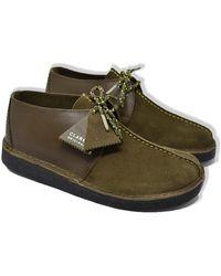 Clarks Desert Trek Chaussures Olive Combi - Vert