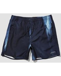 Saturdays NYC Short de bain Timothy en polyester bleu marine