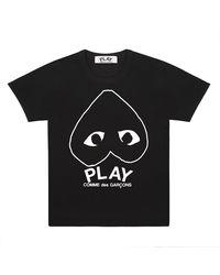 COMME DES GARÇONS PLAY T-shirt con stampa - Nero