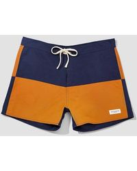 Saturdays NYC Short Ennis Nylon Rouille Marine - Bleu