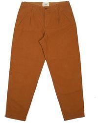 Folk Pantalones de montaje de teca - Marrón