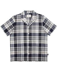 Folk Navy & Ecru Check Shirt - Blue