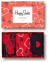 Happy Socks Valentines Socks Gift Box - Red