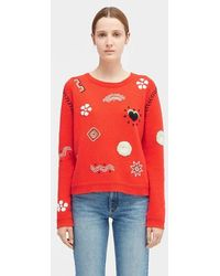 Chinti & Parker Embroidered Milagro Jumper