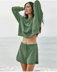 Velvet By Graham & Spencer Https://www.trouva.com/it/products/velvet-by-graham-and-spencer-presley-palmetto-shorts - Verde