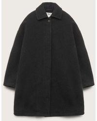 YMC Cocoon Heavy Wool Coat Charcoal - Black