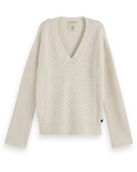 Maison Scotch Chunky Rib Off White Pullover