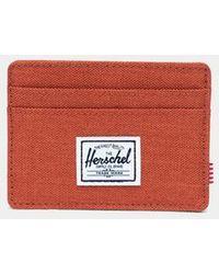 Herschel Supply Co  Pine Bark Black Charlie Cardholder for