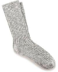 Birkenstock Slub Calcetines algodón blanco gris
