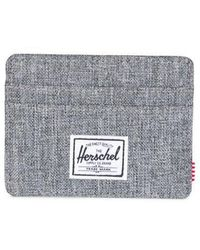 Herschel Supply Co. Charlie Raven Crosshatch Rfid Wallet - Gray