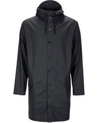 Rains - Lange Jacke schwarz - Lyst