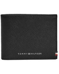 Tommy Hilfiger Business Mini Card Wallet Strukturiert Schwarz