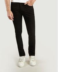 Nudie Jeans Organic Cotton Lean Dean Jeans - Black