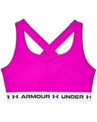 Under Armour Https://www.trouva.com/it/products/under-armour-top-crossback-mid-bra-donna - Rosa