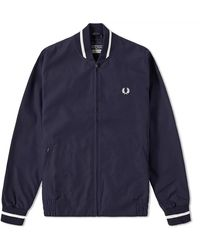Fred Perry Bleu marine et écru J3174-635 rééditions Made in England Original Tennis Bomber Jacket