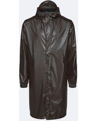 Rains Shiny Brown Fishtail Parka Jacket - Black