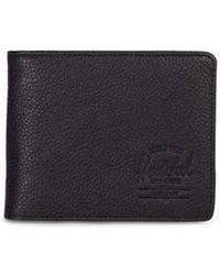 Herschel Supply Co. Black Pebbled Leather Hank Wallet
