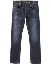 Nudie Jeans - Jeans Grim Tim Ink Navy - Lyst