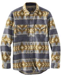 Pendleton Https://www.trouva.com/it/products/-la-pine-overshirt-banded-stripe-navy - Blu