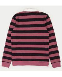 Saturdays NYC T-shirt à rayures L et à rayures claires - Violet