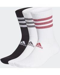 adidas Blanco Negro Rosa Salvaje Gris Five Classic Glam Cushioned Sport 3 rayas Calcetines