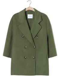 American Vintage Bottle Green Long Sleeves Dadoulove Coat