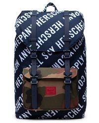 Herschel Supply Co. Little America Mid Volume Roll Call Peacoat Woodland Camo 10020 03564 Os One Size - Blue