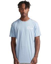 RVCA Tropicale T Shirt Dusty Blue