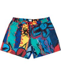 Paul Smith Classic Collage Short Navy - Blue