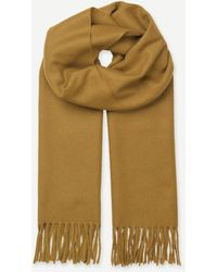 SamsoeSamsoe Mustard Wool And Cashmere Efin Scarf - Multicolour
