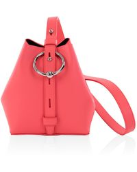 Rebecca Minkoff Mini Kate Bucket Bag Grapefruit Nappa - Pink