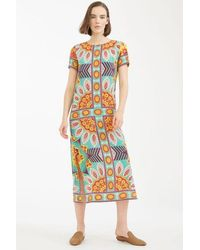 Weekend by Maxmara Emerald Roncolo Silk Crepe De Chine Dress - Multicolour