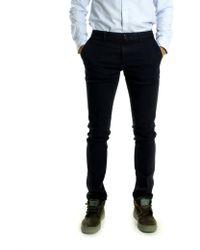 Tommy Hilfiger Navy Blue Cotton Chino Slim Trouser