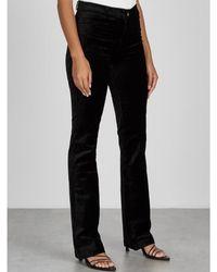 PAIGE Schwarze Manhattan Bootcut-Jeans aus Samt - Mehrfarbig