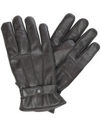 Barbour Thinsulate Handschuhe aus brüniertem Leder Dunkelbraun