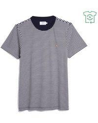 Farah Https://www.trouva.com/it/products/-true-navy-daytona-stripe-slim-fit-tee-shirt - Blu