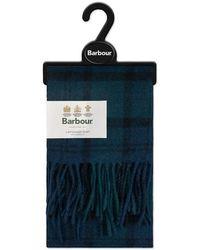 Barbour Tartan Lambswool Scarf Black Watch - Blue