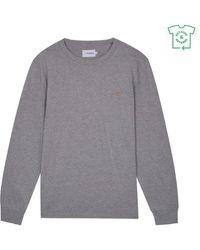 Farah Worthington L S Tee Shirt Grey Marl - Gris