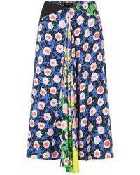 Stine Goya Https://www.trouva.com/it/products/stine-goya-lilah-skirt-in-flowermarket-mix - Blu